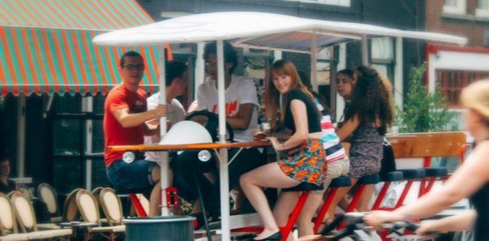 Prosecco Fahrrad Amsterdam